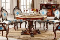European Style Luxury Dining Set,Round Dining Table And ...