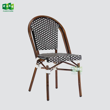 paris bistro chairs outdoor green chair covers for sale aluminum bamboo dining rattan e200779 side