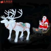 Outdoor Christmas Decoration Led Lighted Reindeer Carriage ...