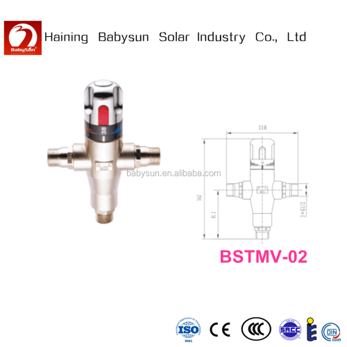 small resolution of high quality solar hot water heater thermostatic mixing valve