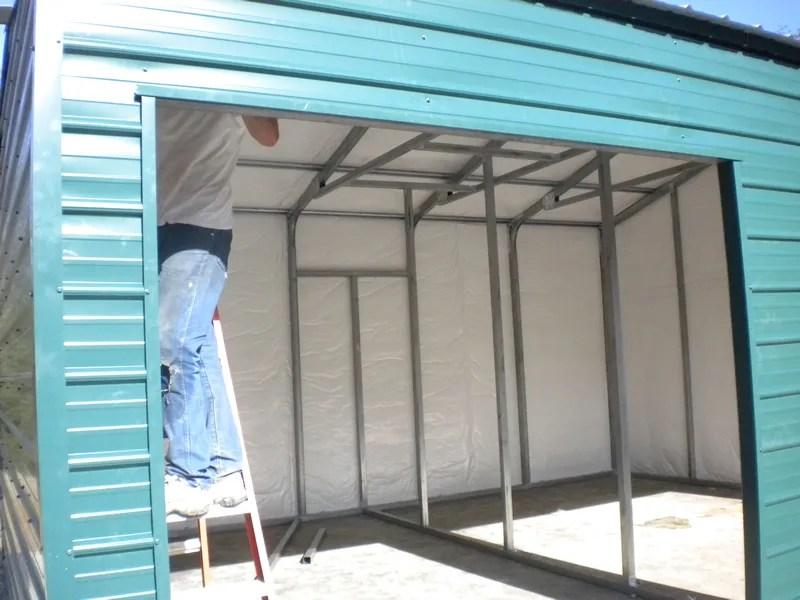 baja ringan untuk garasi mobil dua pintu bingkai logam gudang