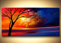 Scenery Bedroom Oil Painting Abstract Wall Art - Buy ...