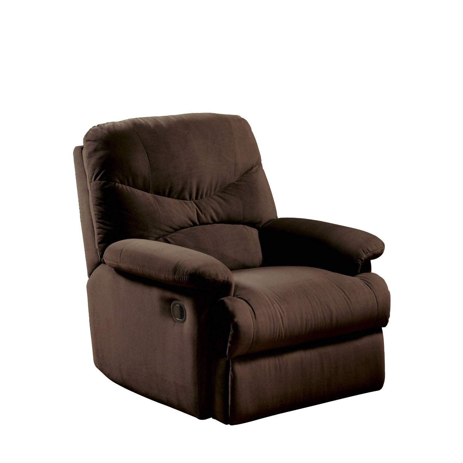 the comfortable chair store wheelchair dubai cheap find deals on get quotations trustpurchase recliner in chocolate brown microfiber upholstery has a lowering seat back knob