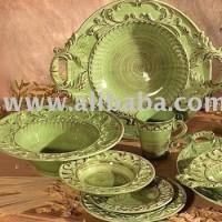 Green Tuscan Horchow 16pc Dinnerware Set Baroque Design ...