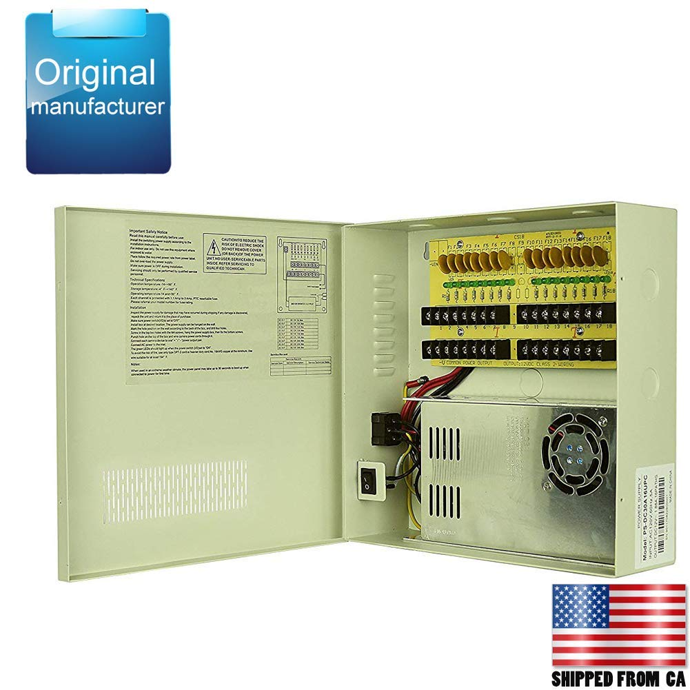 hight resolution of get quotations centropower ul listed 18 channel port 12v dc 30 amp ptc fuse distributed power supply box