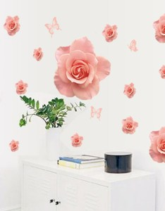 Get quotations hot romantic rose stickers for wall decoration kids chart also cheap ideas find rh guideibaba