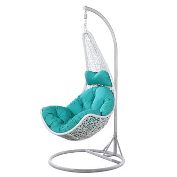 hanging chair stand white green dining room chairs uk coffee plastic rattan metal patio furniture swing egg