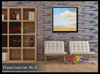 Abstract Wall Art Decor Natural Village Scenery Oil ...