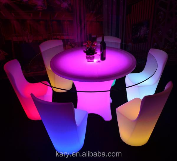 Illuminating Bar Lighting Tables Led Light Up Outdoor