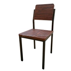 Retro Cafe Dining Chairs Kitchen Stuff Plus Metal Frame Plywood Furniture Restaurant Chair