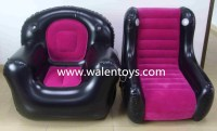Inflatable Furniture High Back Flame Blow Up Chair Sofa ...