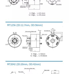 moflon 360 rotating electrical connector slip ring with 2 96wires rotary joint assembly [ 750 x 2226 Pixel ]