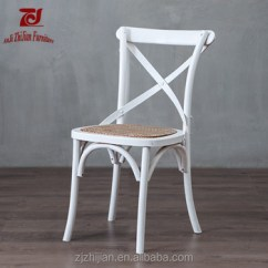 White X Back Chair Support Office Cross Birch Wood Zjc36f Buy