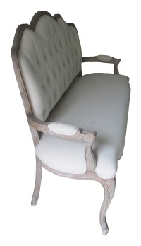 Antique Linen Fabric Arm Accent Chair Living Room Arm ...