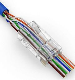 get quotations fidgetfidget network cable 200 pcs cat6 plug ez rj45 modular 8p8c connector end pass through [ 1000 x 1001 Pixel ]