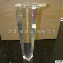 Acrylic Chair Legs Office Wheels For Laminate Floors Top Quality Best Price Clear Table Leg Dinning Dressing