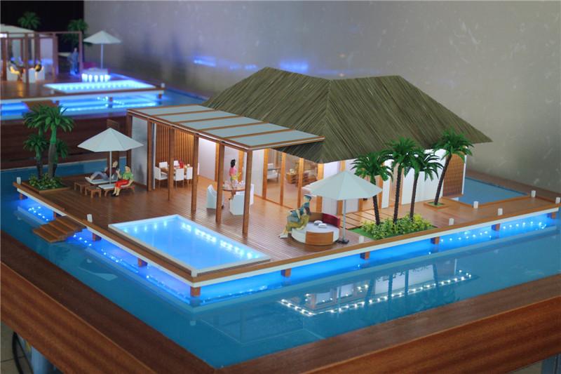Resort Bungalow Villa Model In MaldivesBungalow Wooden 3d