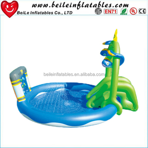 stuffing balloons swimming pool