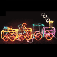 3d Led Motif Outdoor Lighted Christmas Train For Rooftop ...
