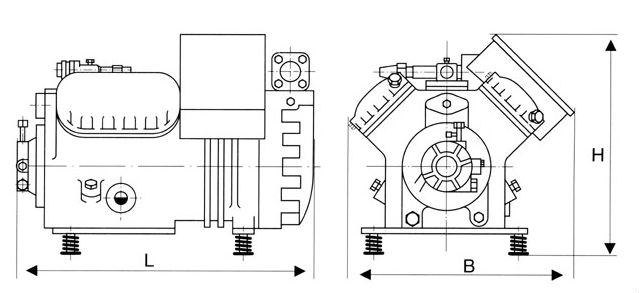 20hp Copeland Refrigeration Compressor Used For Cold Room