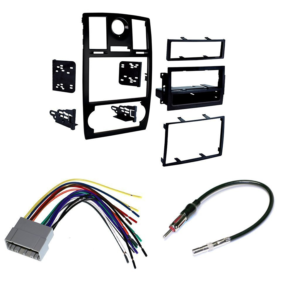 medium resolution of 2005 07 chrysler 300 car stereo install mounting kit wire harness and radio antenna