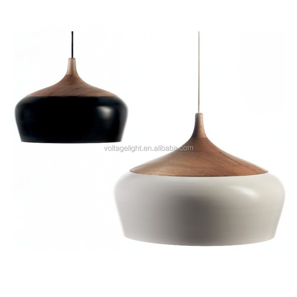 Hot Sell Modern Natural Wooden Decoration Coco Pendant