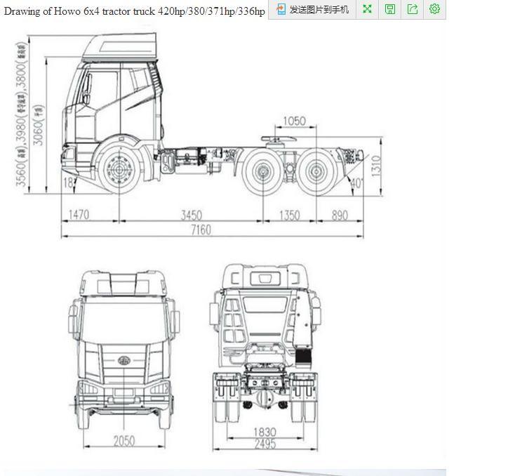 2017new Heavy Truck Dayun 6*4 Tractor Truck /trailer