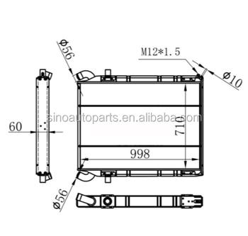 Truck Radiator 1321887/1100630 Nissens 64071/64070 For