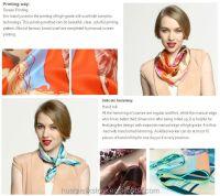 Fashion Silk Neck Scarf Types Short Neck Scarves For Women ...