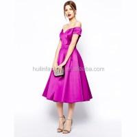 New Design Elegant Simple Style Midi Length Prom Dress ...
