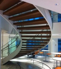 Luxury Modern Commercial Curved Stairs Staircase - Buy ...