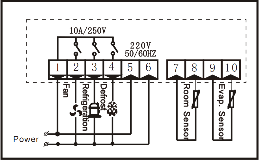 Ringder Rc-320m Led Display Refrigerator Digital