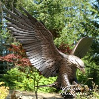 Outdoor Decoration Bronze Bald Eagle Statue