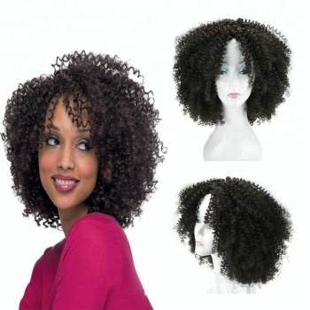 Wholesale Afro Puff Kinky Curly Natural Black Hair Synthetic Wigs