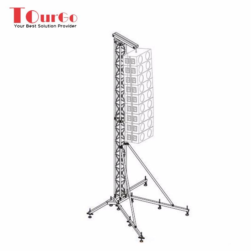Tourgo Upright Aluminum Line Array Speaker Truss Tower For