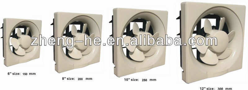 types of kitchen exhaust fans fruit decor 12 inch wall mounted fan led full plastic type with shutter
