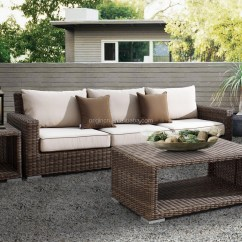 White Resin Wicker Sofa Leather Canada Luxury Round Rattan Large Garden Use 8 Seater Set And ...
