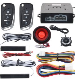 easyguard ec003n v car security alarm system with pke passive keyless entry remote engine start [ 1001 x 1001 Pixel ]