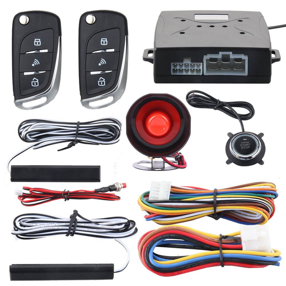hight resolution of easyguard ec003n v car security alarm system with pke passive keyless entry remote engine start
