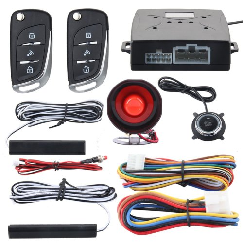 small resolution of easyguard ec003n v car security alarm system with pke passive keyless entry remote engine start