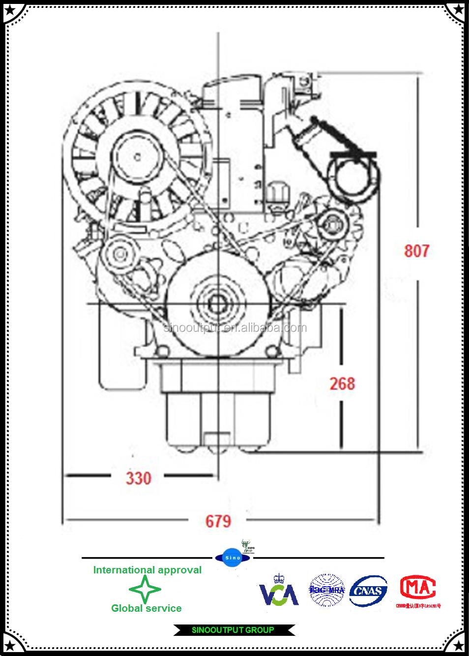 2 Cylinder Diesel Motor F2l912 Deutz Engine For