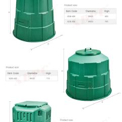 Kitchen Compost Container Dark Walnut Cabinets Compostable 食品废物堆肥容器室内塑料厨房花园堆肥曝气器桶 Buy 花园