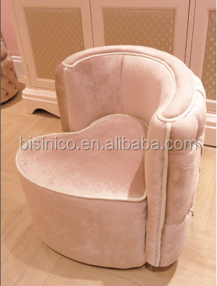 sofa chair for baby girl comprar cama barato madrid european modern style fancy heart shape pink girls mini kids bedroom bf01
