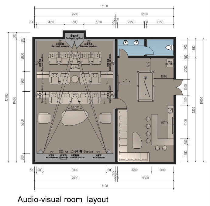 Theater Room Furniture Layout