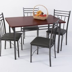 Steel Kitchen Table Rolling Island For Stainless Dining Set Buy Wood Sets Malaysia Philippine Product On Alibaba Com