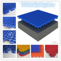 Plastic Flooring Type And Polypropylene Material High ...