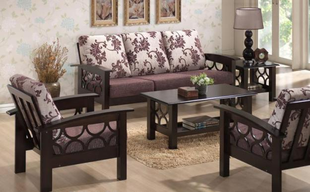 design of wood sofa set top bed mattress induscraft designer wooden buy online furniture store