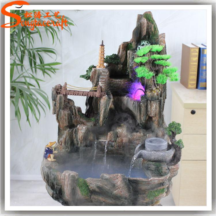 Made In China Fiberglass Rock Waterfall Artificial Rock Waterfall