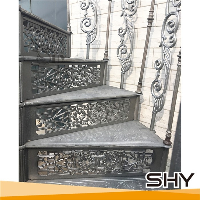 Vintage Antique Cast Iron Spiral Staircase With Treads And   Cast Iron Spiral Staircase For Sale   Second Hand   Used   Portable   Modular   Rod Iron