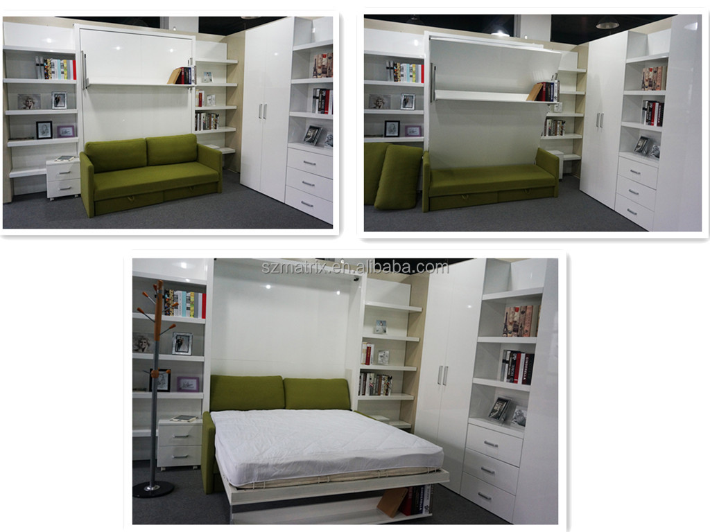 Fold out bed from wall -  Wall Bed Murphy Bed Folding Wall Bed Hidden Wall Bed Foldable Bed